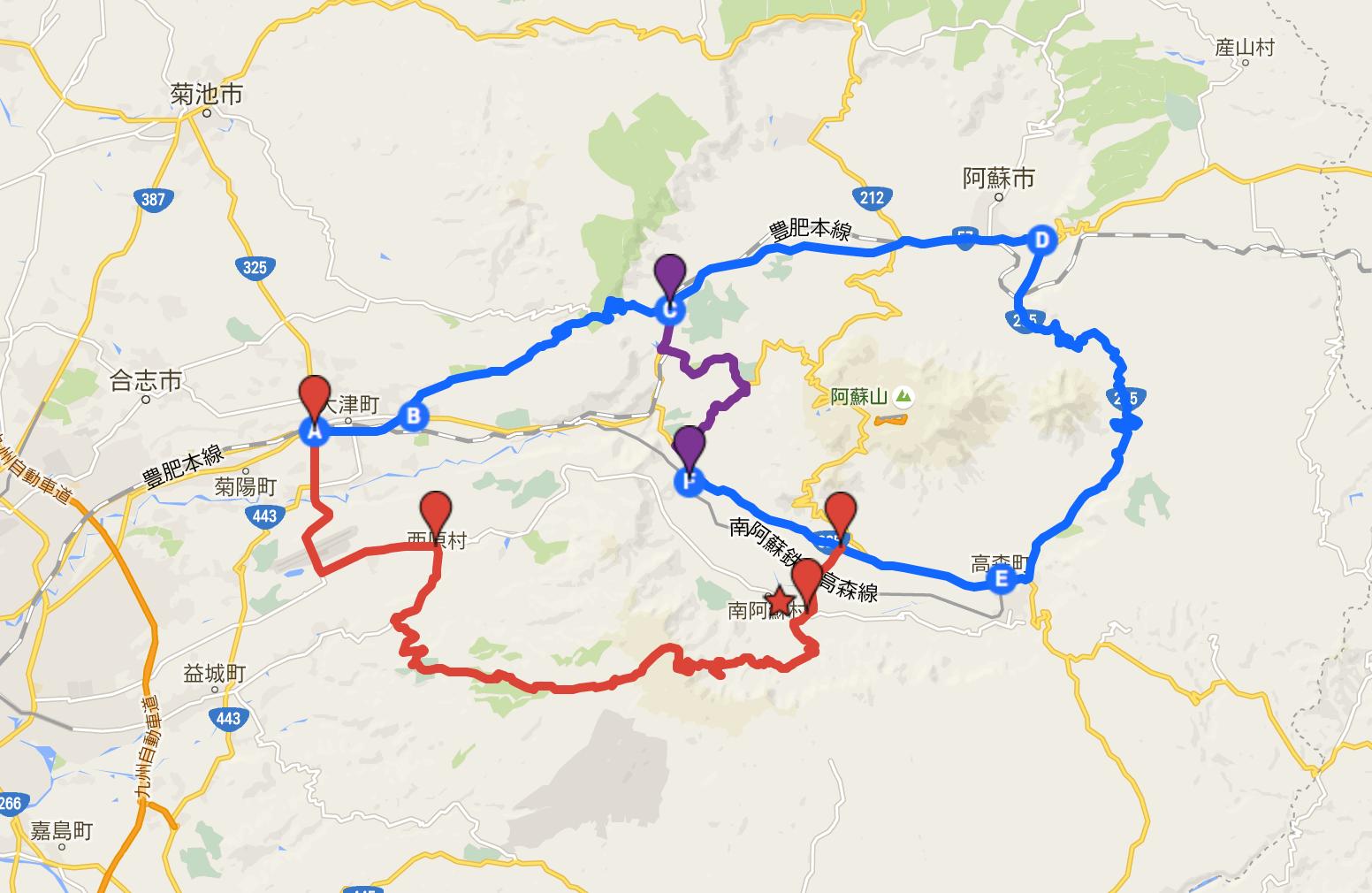 5月23日開通・応急迂回ルート【紫色】を追加