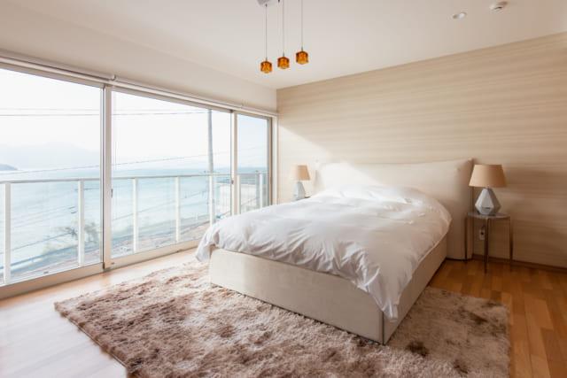 糸島の朝日のあたる家の寝室