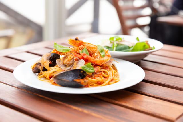 糸島のイタリアン食堂トラットリアジロのパスタ
